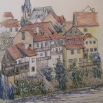 Valtava Houses, ink and c.pencil