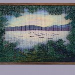 Tapestry of silk and wool woven in two layers on a frame-loom