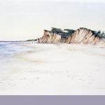 Shadmore Cliffs, colored pencil